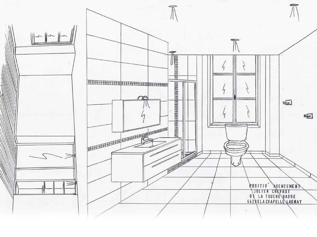 Croquis de salles de bains positiv 39 agencement for Croquis de salle de bain